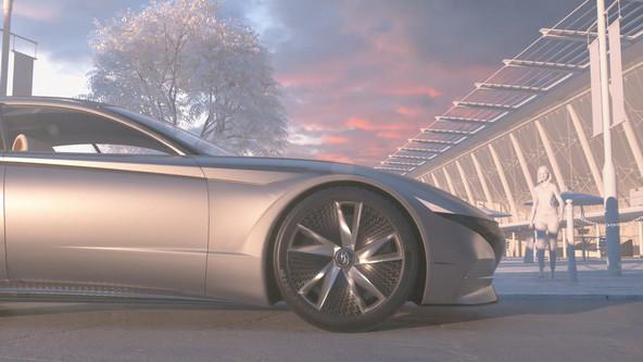 Inovativno polnjenje elektrinih vozil  ki mu sledi samodejno parkiranje