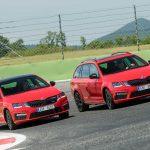Škoda Octavia RS spredaj rdeče barve