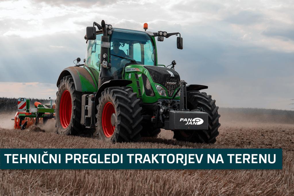 Tehnini pregled traktorjev na terenu 2021